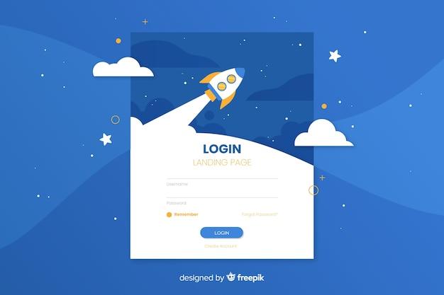 Registro corporativo en la página de inicio