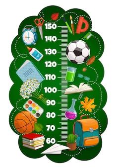 Regla de tabla de altura para niños, artículos escolares de medidor de crecimiento