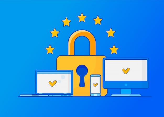 Reglamento general de protección de datos gdpr. protección de datos personales.