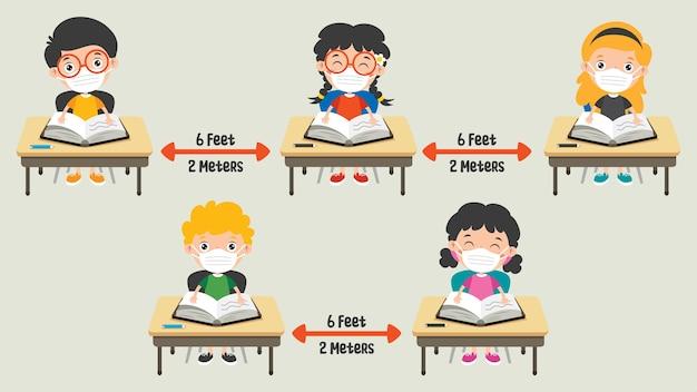 Reglas de distancia social para niños