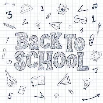 Regreso a la escuela boceto letras.