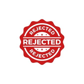 Rejected seal stamp vector