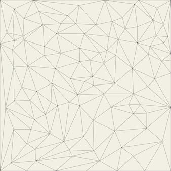 Rejilla lineal abstracta irregular. patrón de textura monocromática reticulada