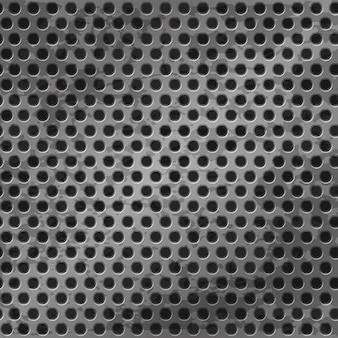 Rejilla metálica sin costuras en el agujero, fondo de textura. ilustración vectorial de un patrón plateado metálico con textura.