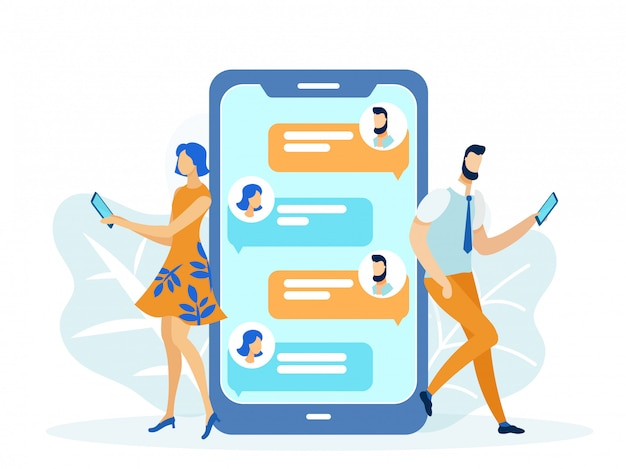 Relaciones románticas en línea, mensajes de texto para niñas y niños.