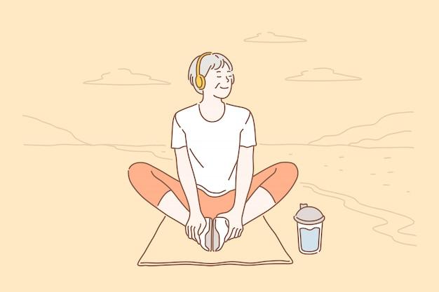 Relajación, estilo de vida, salud.