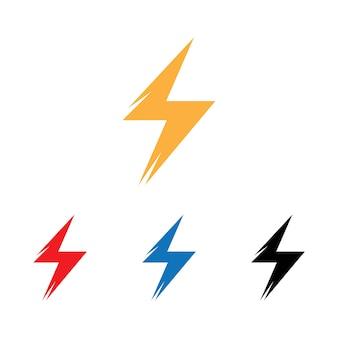 Relámpago, elemento de diseño vectorial de energía eléctrica