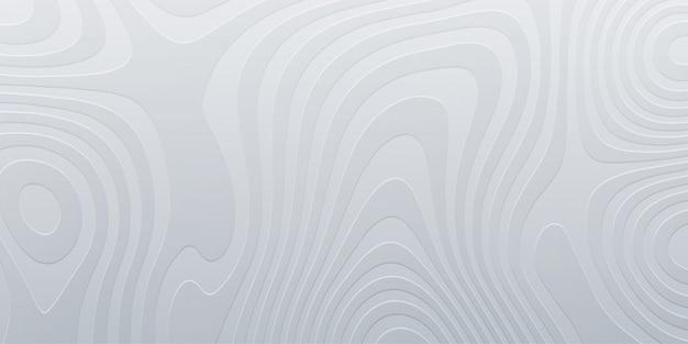 Relieve de topografía blanca. fondo abstracto. ilustración mínima. formas de marmoleado líquido. esquema del paisaje cartográfico. diseño de cartel moderno.
