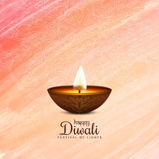 Religiosa feliz diwali elegante