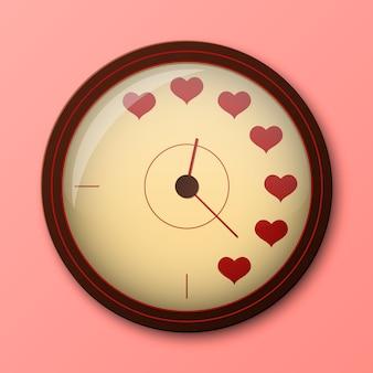 Reloj de amor que muestra el mejor momento para hacer el amor.
