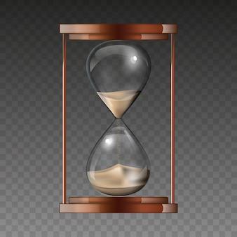 Reloj de arena aislado sobre fondo transparente