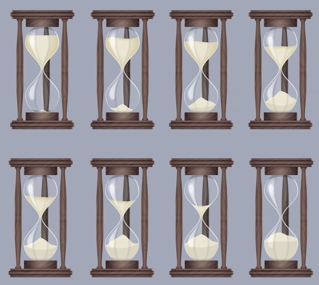 Reloj de arena realista de reloj de arena.
