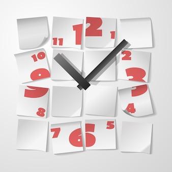 Reloj creativo con dígitos.