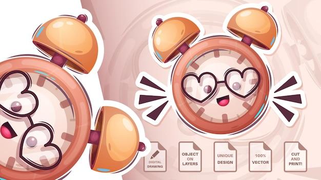Reloj despertador feliz - linda pegatina