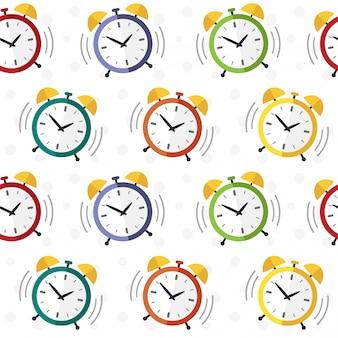 Reloj despertador de patrones sin fisuras.