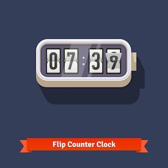 Reloj de desplazamiento de pared y plantilla de contador de números