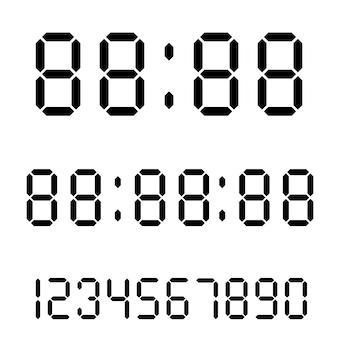 Reloj digital. calculadora de números digitales.
