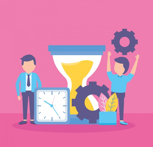 Reloj de gente de negocios