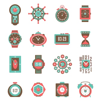 Reloj icon set