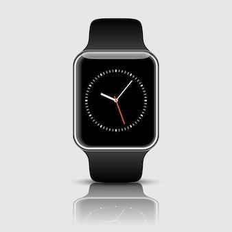 Reloj inteligente aislado con iconos en blanco