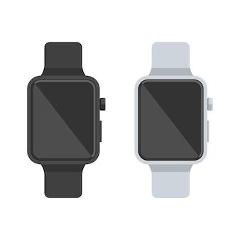 Reloj inteligente blanco y negro