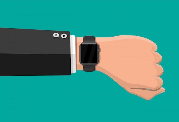 Reloj inteligente en la mano