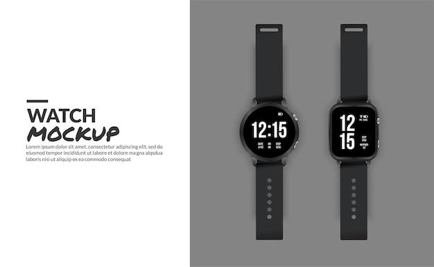 Reloj inteligente moderno aislado con espacio de copia en el lateral