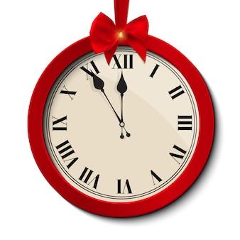 Reloj de navidad abstracto
