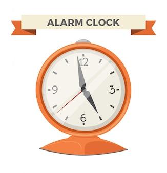 Reloj reloj alarma icono ilustración