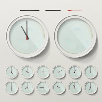 Relojes de pared realistas
