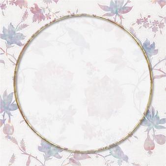 Remix del marco de la flora holográfica del vector del vintage de la obra de arte de william morris