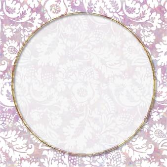 Remix del marco floral en colores pastel holográfico del vector del vintage de la obra de arte de william morris