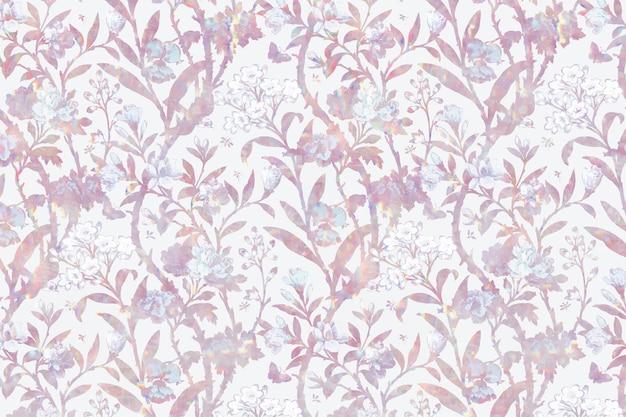 Remix del patrón de flora holográfica vintage de la obra de arte de william morris