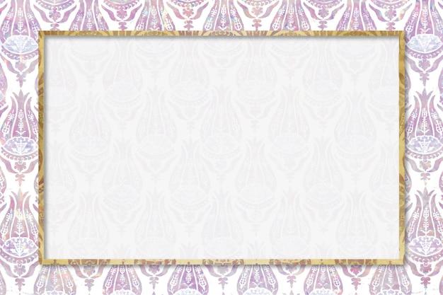Remix de patrón de vector de marco holográfico de naturaleza de obra de arte de william morris