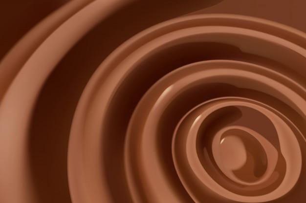 Remolino de chocolate derretido