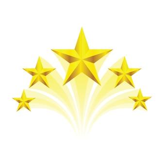 Remolino dorado cinco estrellas