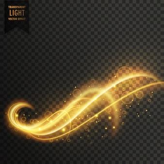 Remolino de efecto dorado de luces