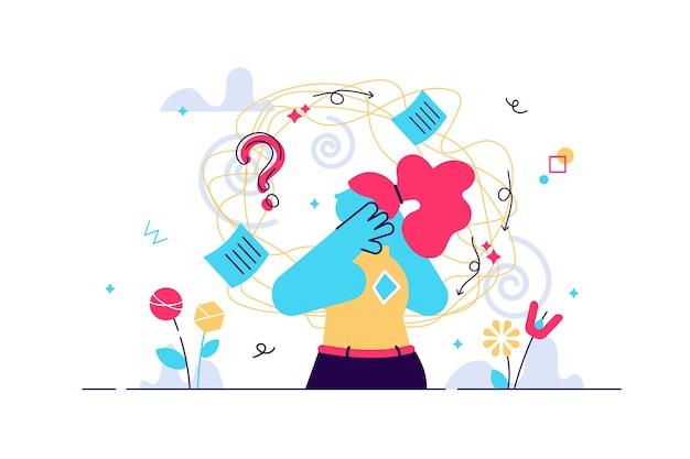Remolino de frustración como problema de sensación mental de mareo