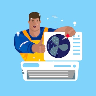 Reparación de aires acondicionados. mantenimiento e instalación de sistemas de enfriamiento.