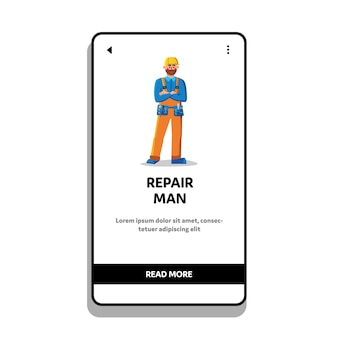 Reparación de cinturón de desgaste mecánico de hombre con herramientas