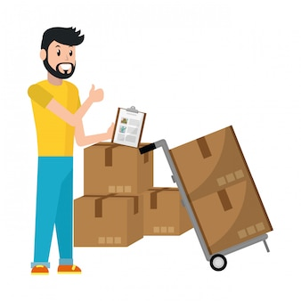 Repartidor con caja