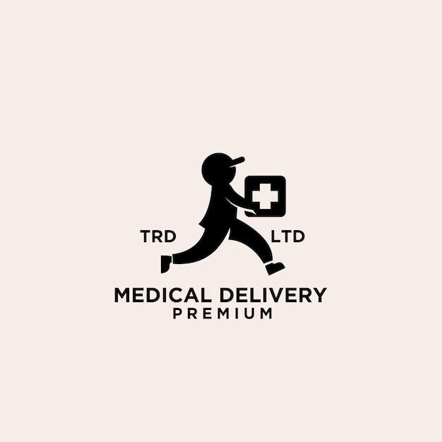 Repartidor médico vintage premium logo