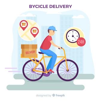 Reparto en bici
