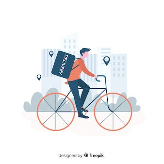 Reparto en bicicleta