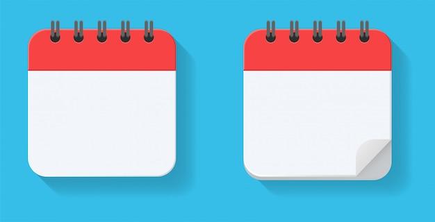 Réplica vacía del calendario. para citas de cita y fechas importantes del año.