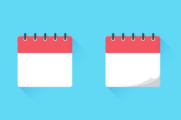 Réplica vacía del calendario. para citas de reuniones y fechas importantes del año.