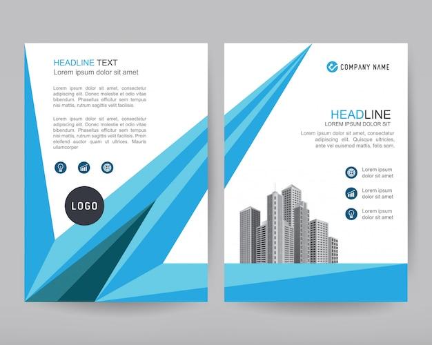 Reporte anual de vector folleto de negocios, diseño de flyers.