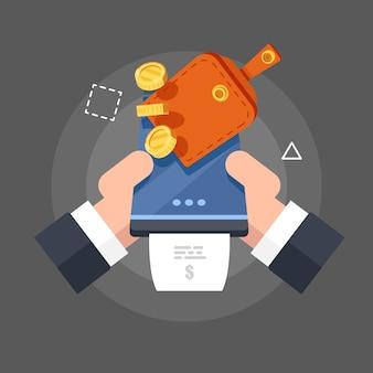 Reposición de saldo de dinero móvil y servicio en línea de recarga.