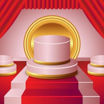 Representación 3d del hermoso diseño del podio