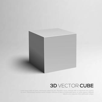 Representación de cubo 3d